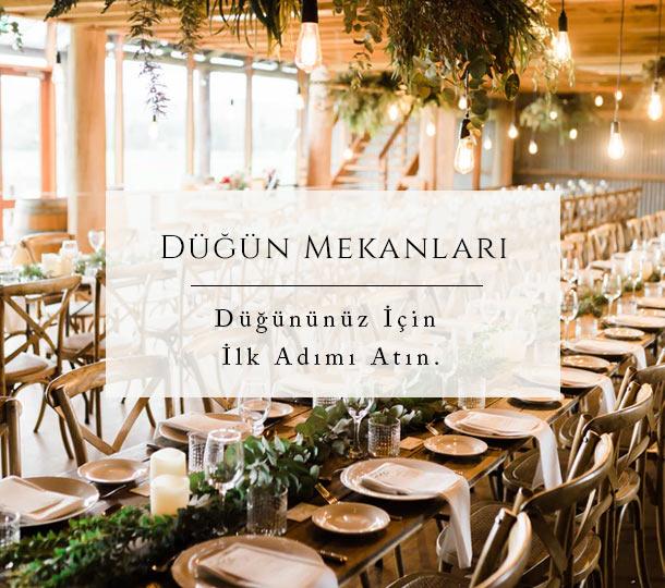 Düğün Mekanları, Kır düğünü mekanları, otel düğünleri, tekne düğünleri, salon düğünleri