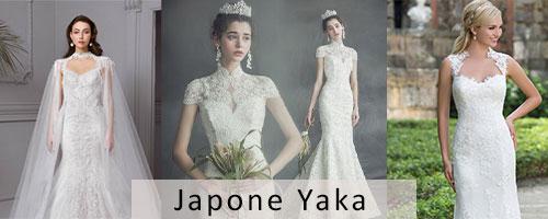 Japone Yaka Gelinliğe Uygun Gelin Saçı Modelleri